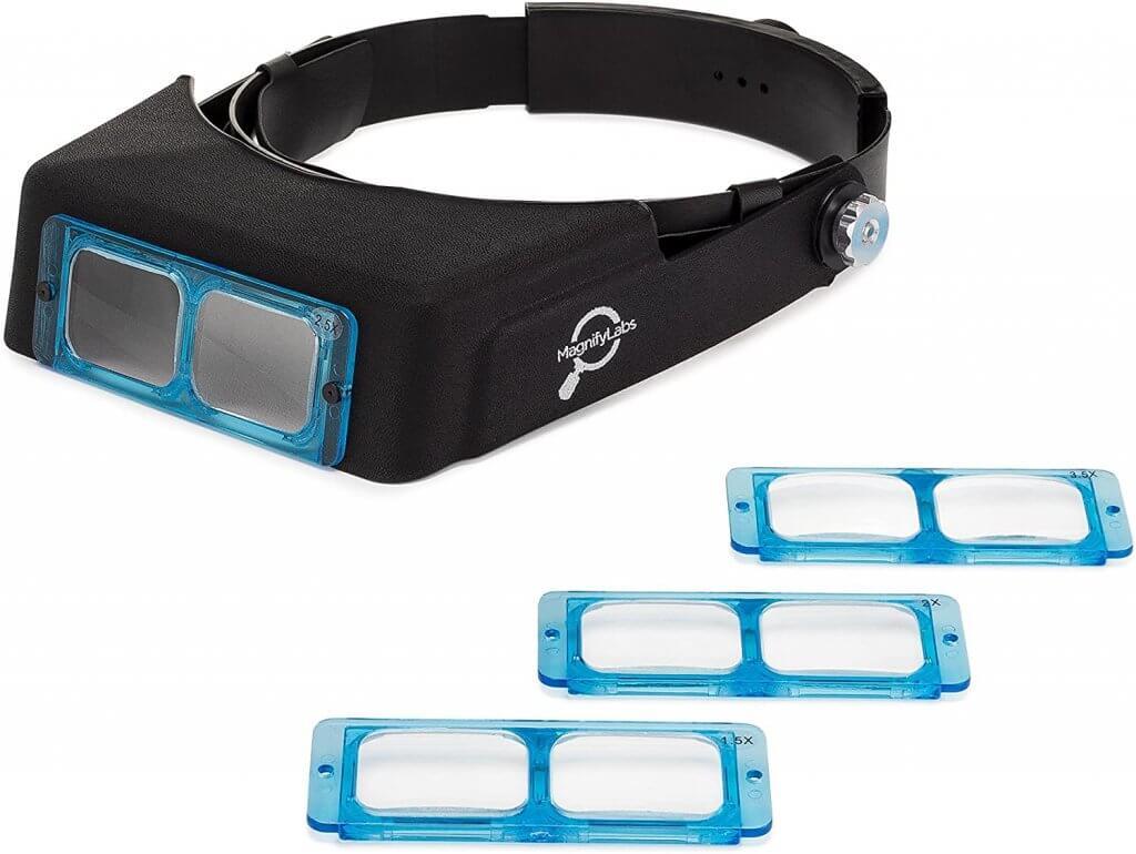 Magnifying Labs Headband Magnifier Glasses Visor