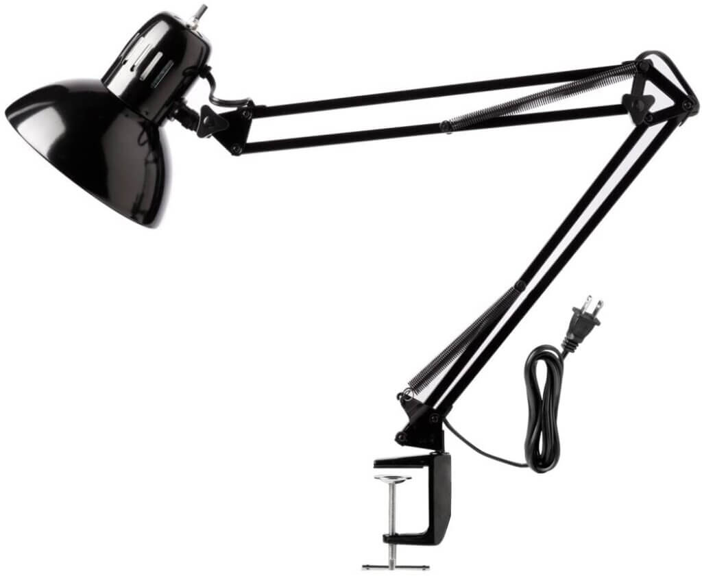 Adjustable Bulb Style Desk Lamp with Clamp
