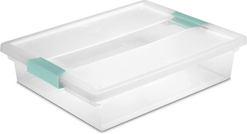 Sterilite Clear Plastic Miniature Storage Box